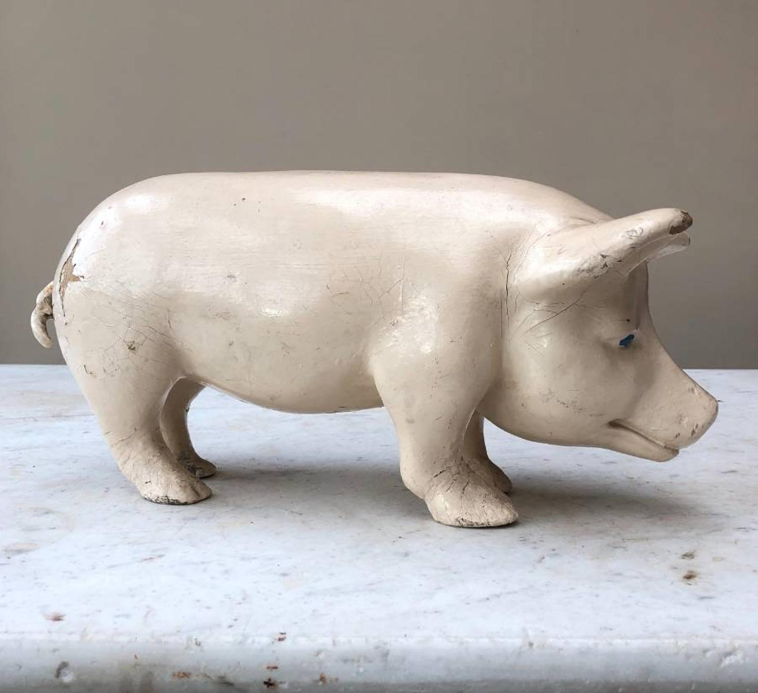 1930s Butchers Advertising Pig - Rarer Small Size Window Display