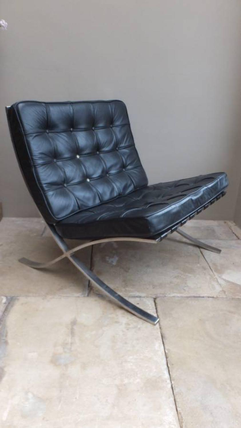 1960s Knoll Barcelona Chair by Mies Van Der Rohe