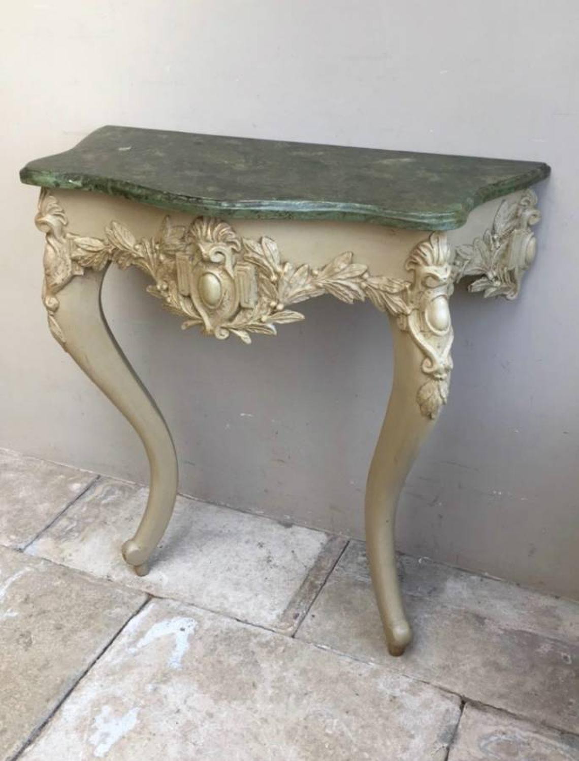 Victorian Painted Pine Console Table - Fantastic Original Painted Faux