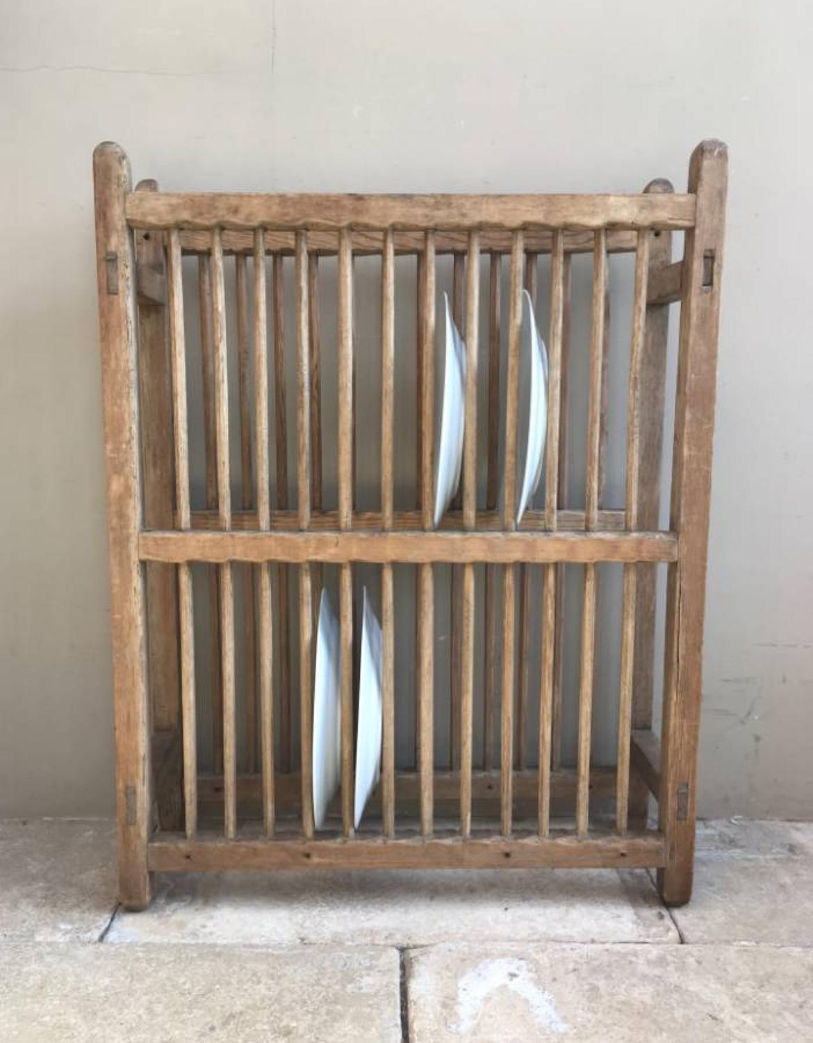Victorian Pine Two Tier Plate Rack