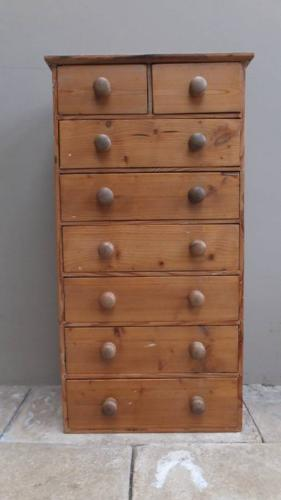 Victorian Pine Flight of Eight Drawers