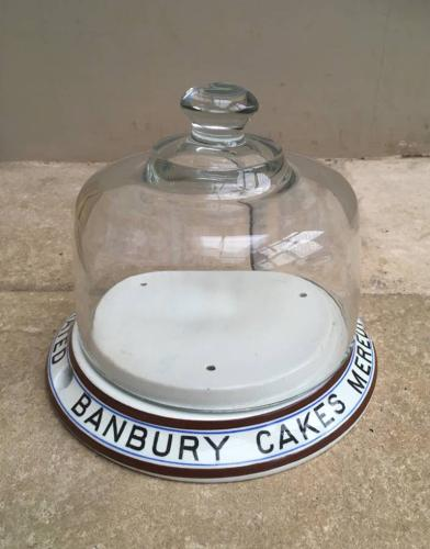 Rare Edwardian Advertising Dome - Meredith & Drew Banbury Cakes