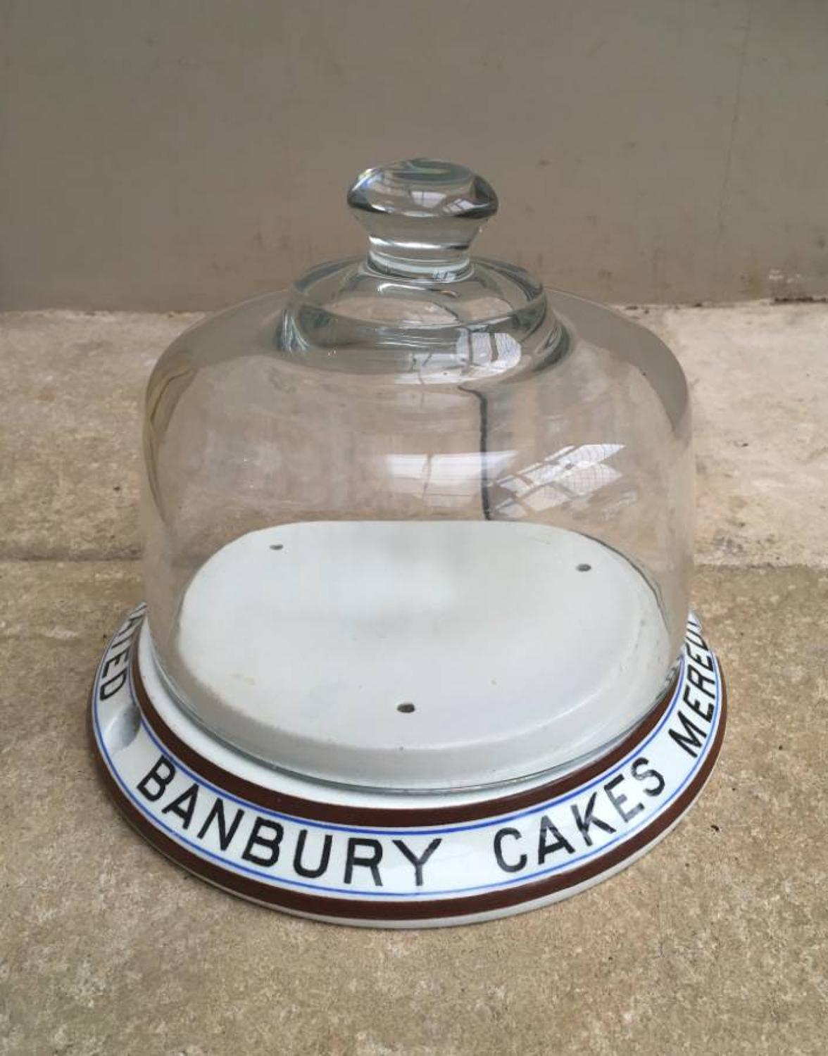 Rare Edwardian Advertising Dome - Meredith & Drew Banbury Cakes