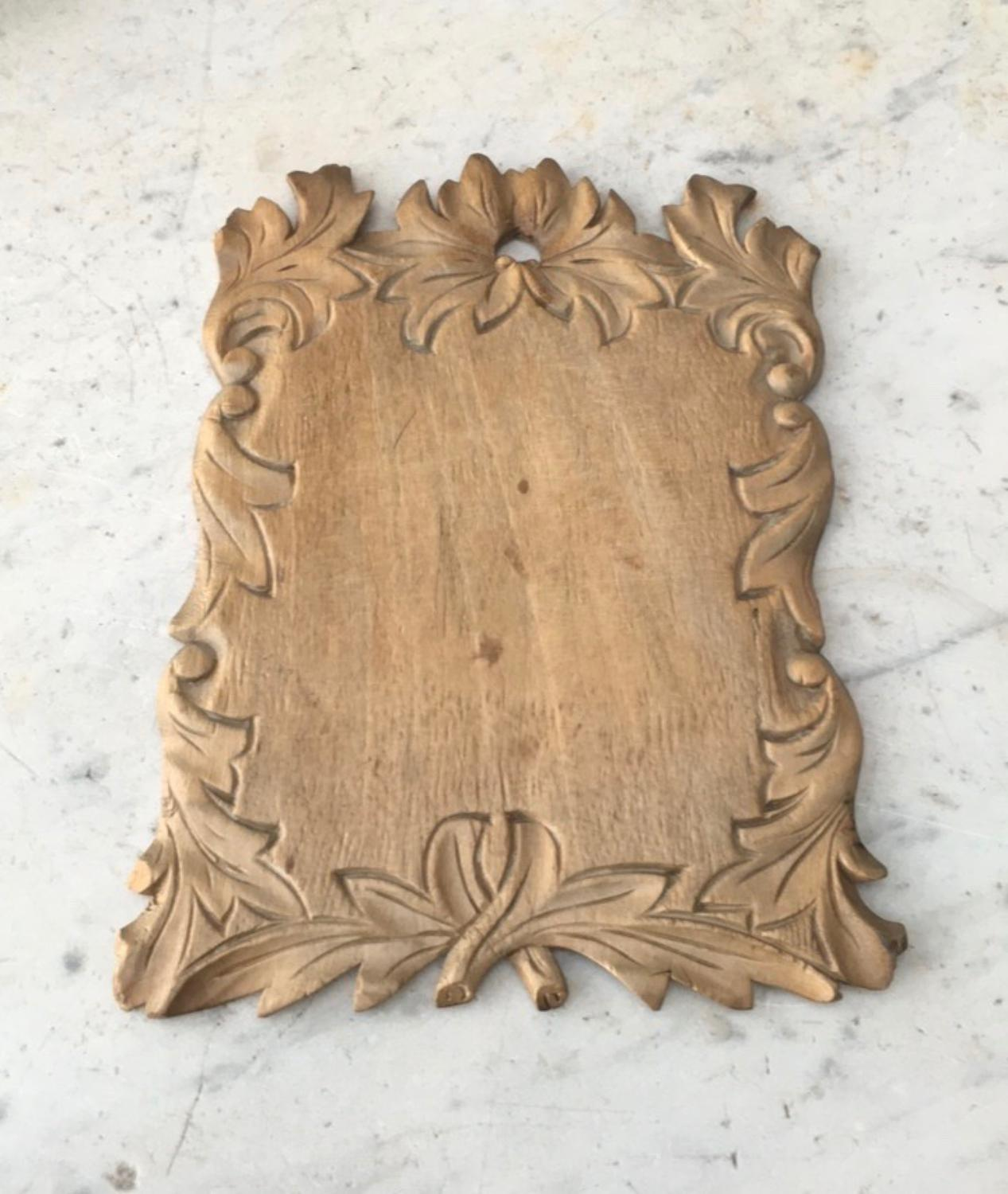 Victorian Carved Treen Herb Board