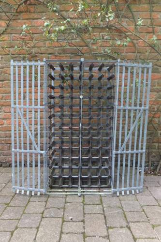 Galvanised Lockable Wine Rack - Farrow & Jackson London