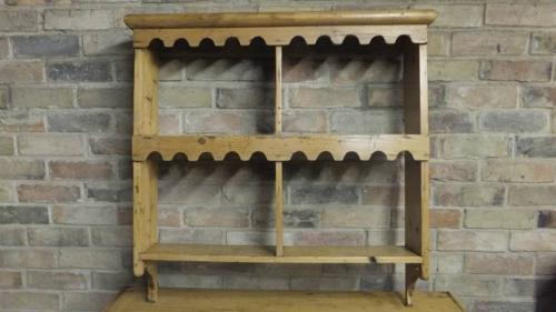 Antique Pine Shelves with Castleations to Front