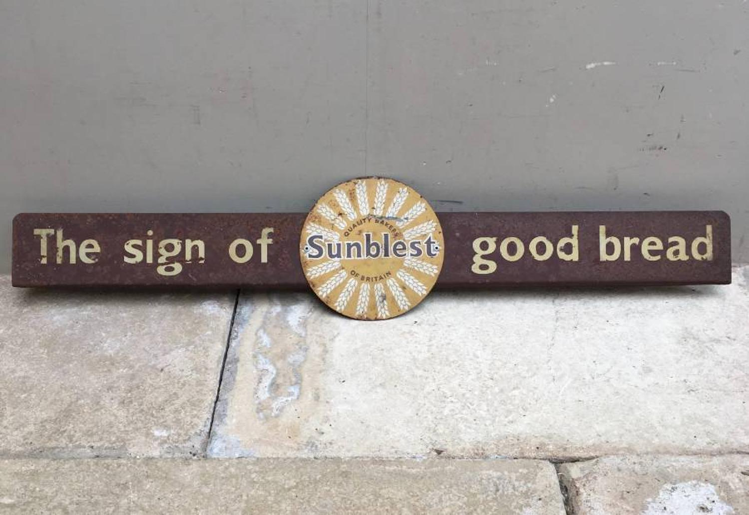 1950s Bakers Tin Advertising Sign - Sunblest Bread
