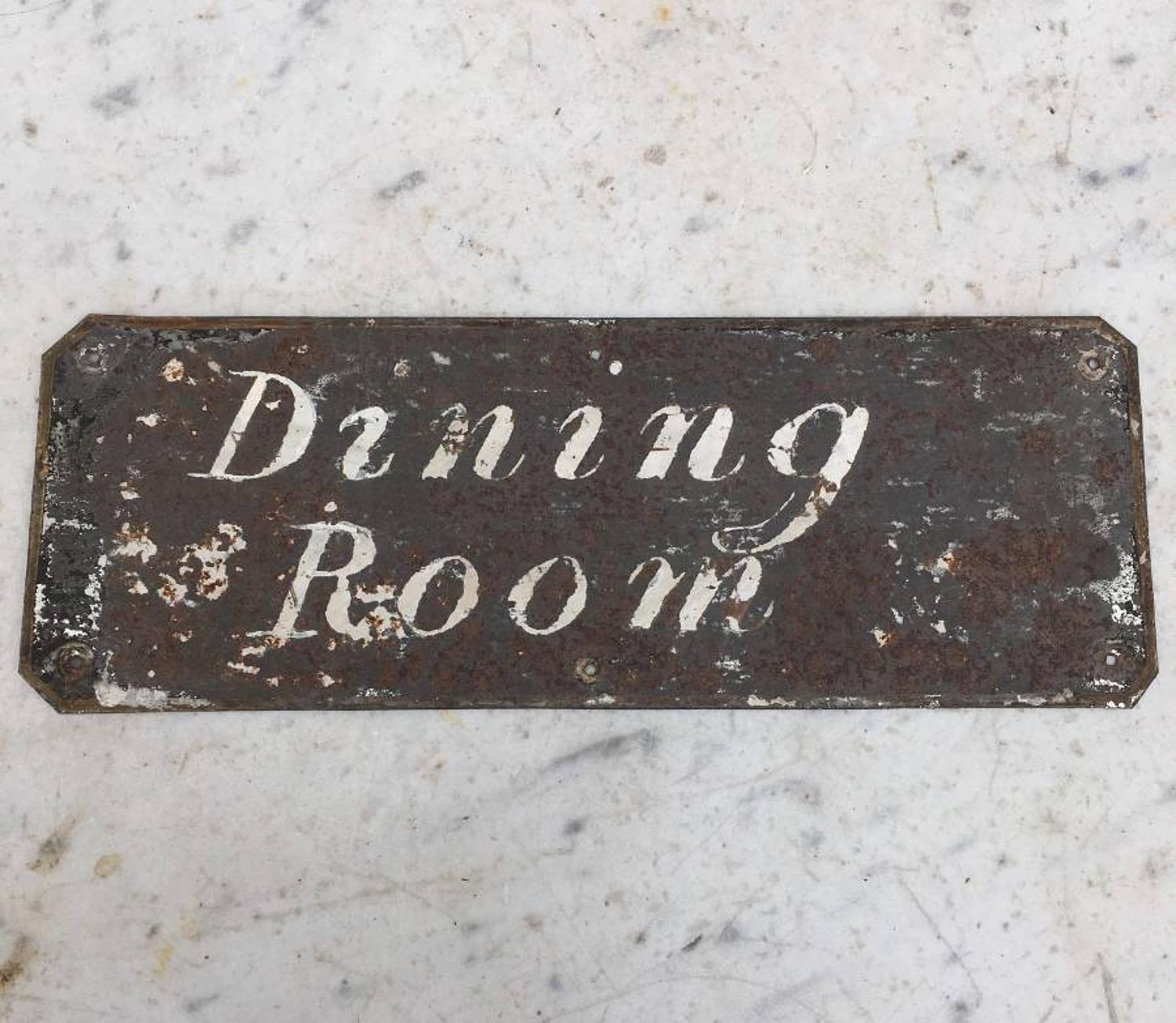Edwardian Painted Tin Sign - Dining Room