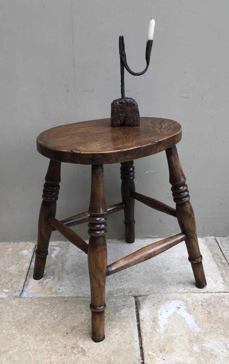 Victorian Elm Stool - Fantastic Condition & Colour