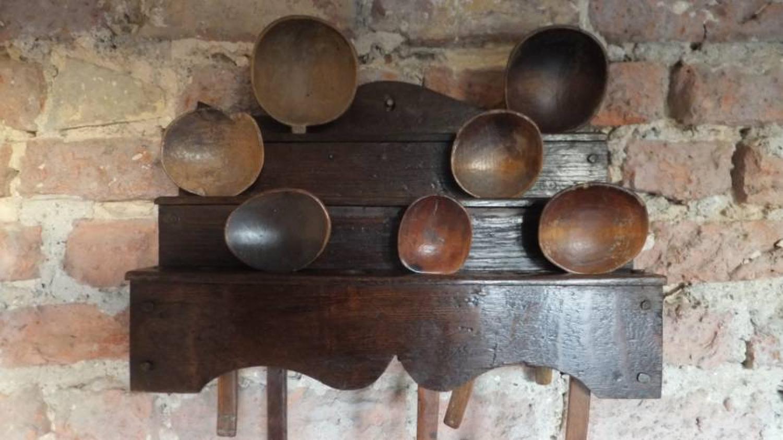 Late Victorian Welsh Oak Stepped Spoon Rack