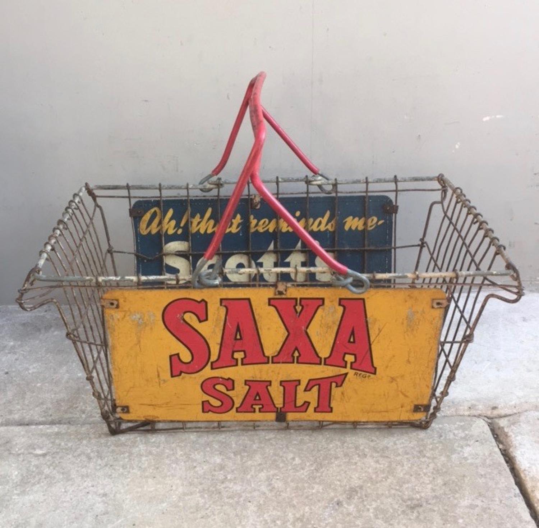 1950s Shops Metal Advertising Basket
