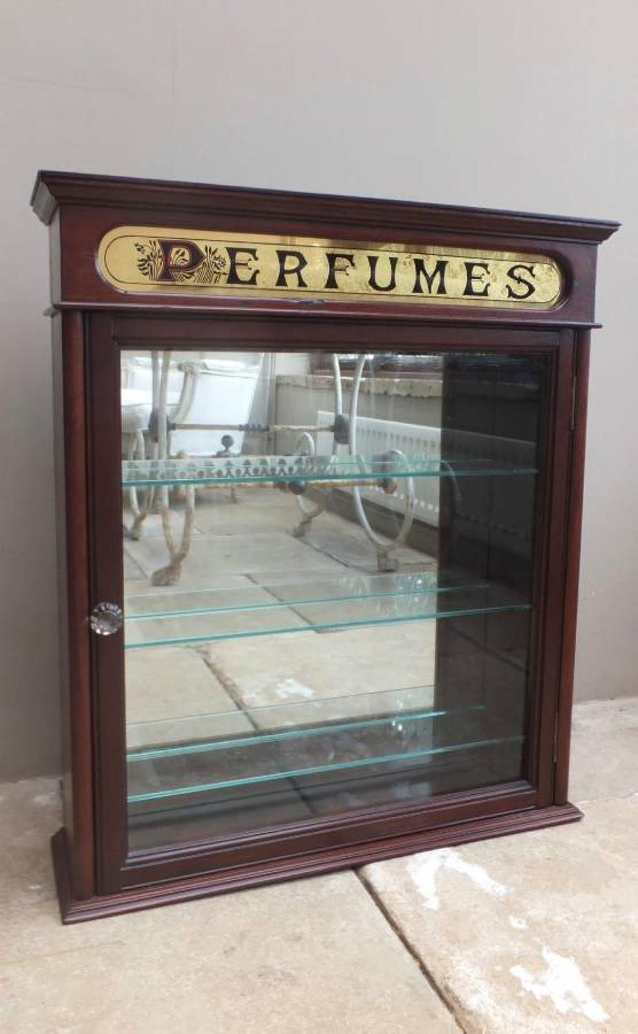Late Victorian Shops Advertising Cupboard - Perfumes