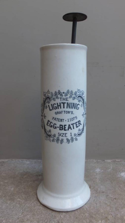 Edwardian Large Size 1 Graftons Lightning Egg Beater