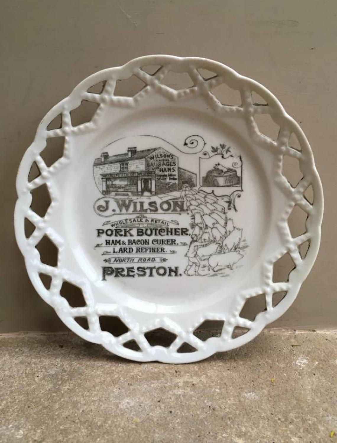Rare Edwardian Butchers Advertising Plate
