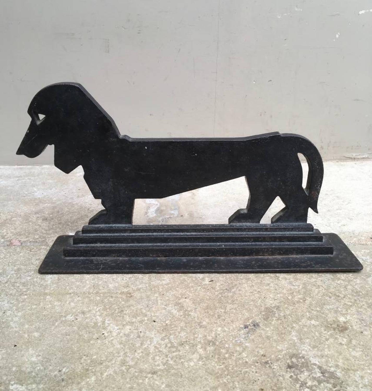 Superb 1930s Sausage Dog Dachshund Boot Scraper