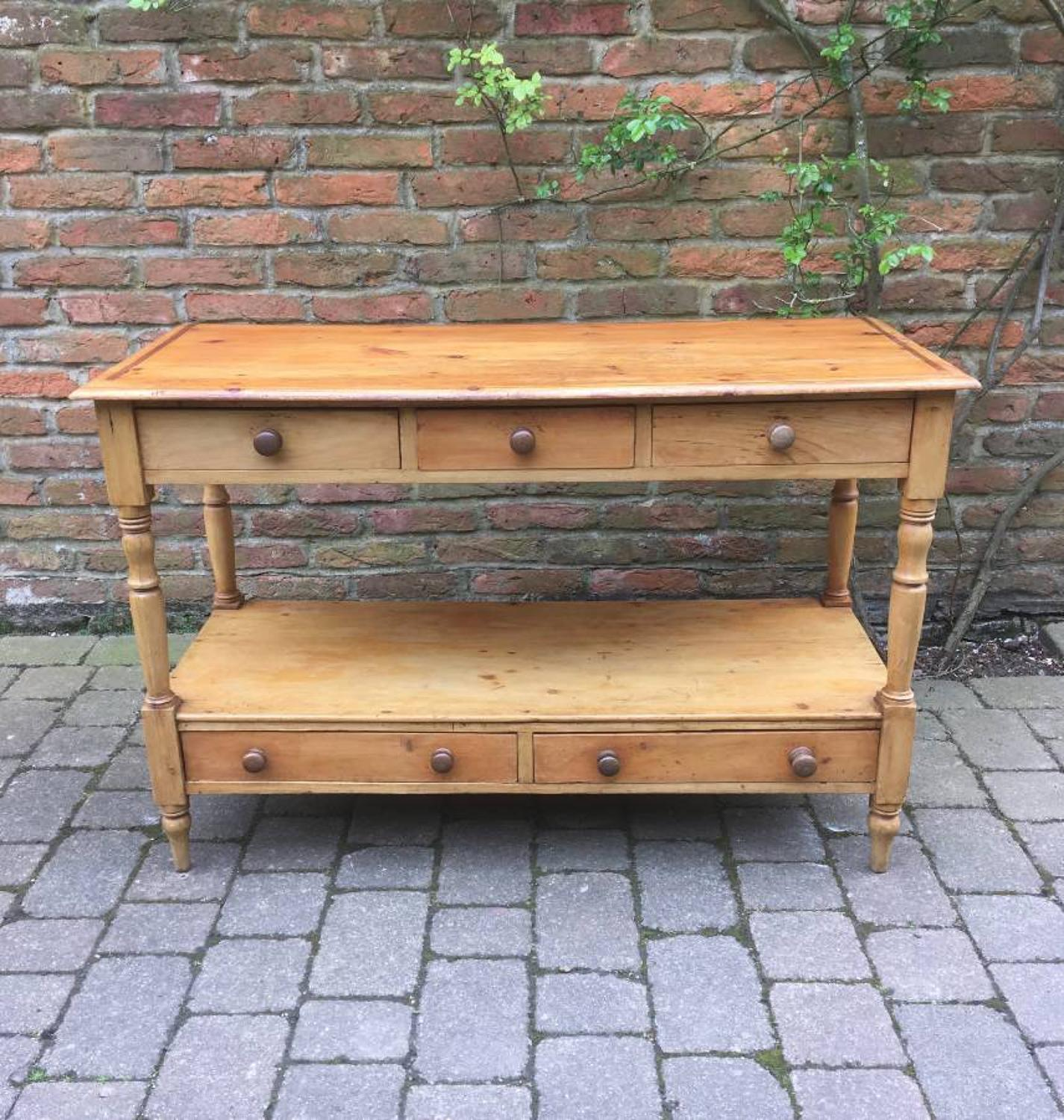 Victorian Pine Server with Potboard Base