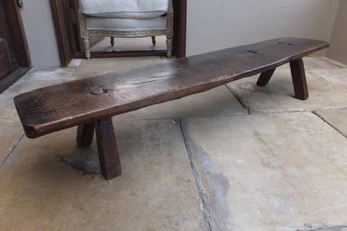 Victorian Oak Pig Bench - Superb Colour