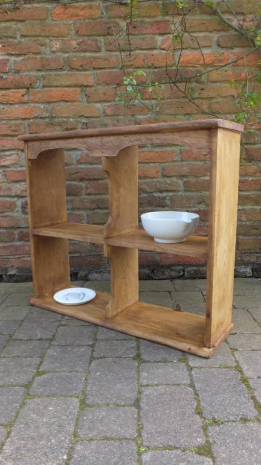 Victorian Pine Set of Four Pigeon Hole Shelves with Arched Top & Middl