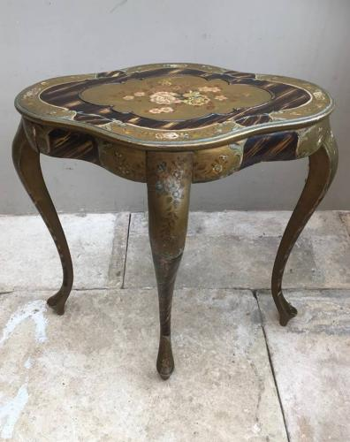 C.1920s Decorative Side Table - Hand Painted