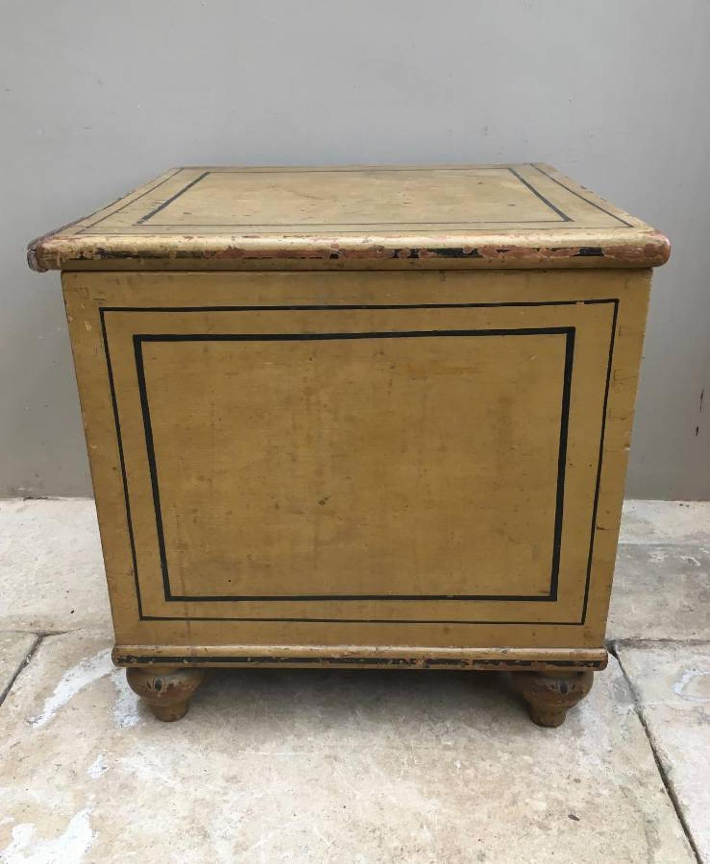 Victorian Pine Pine Box on Bun Feet (was commode) - Wonderful Original