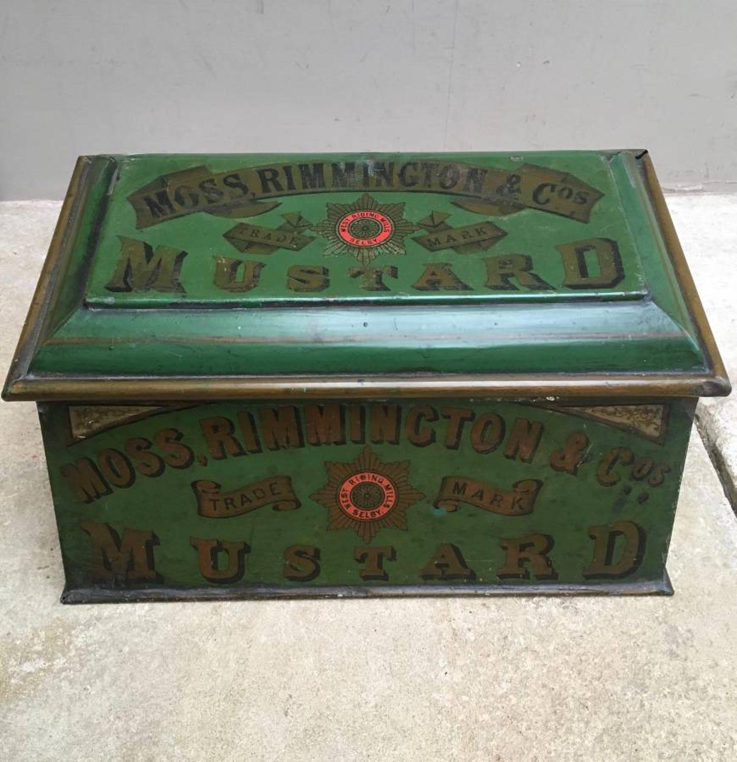 Rare Victorian Shops Counter Top Moss Rimmington & Cos Mustard Tin 187