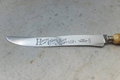 1920s Advertising Carving Knife - Hunters Cooked Meats
