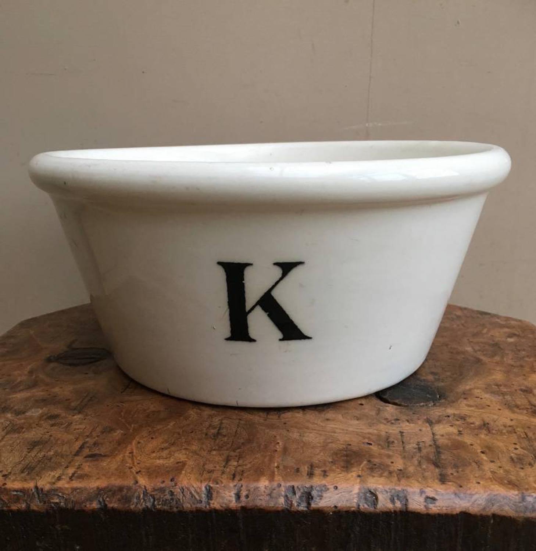 Edwardian White Ironstone K Bowl