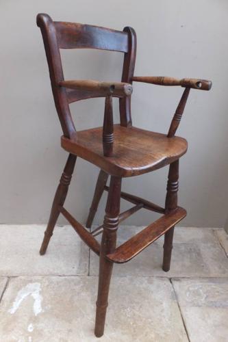 Victorian Elm Childs High Chair