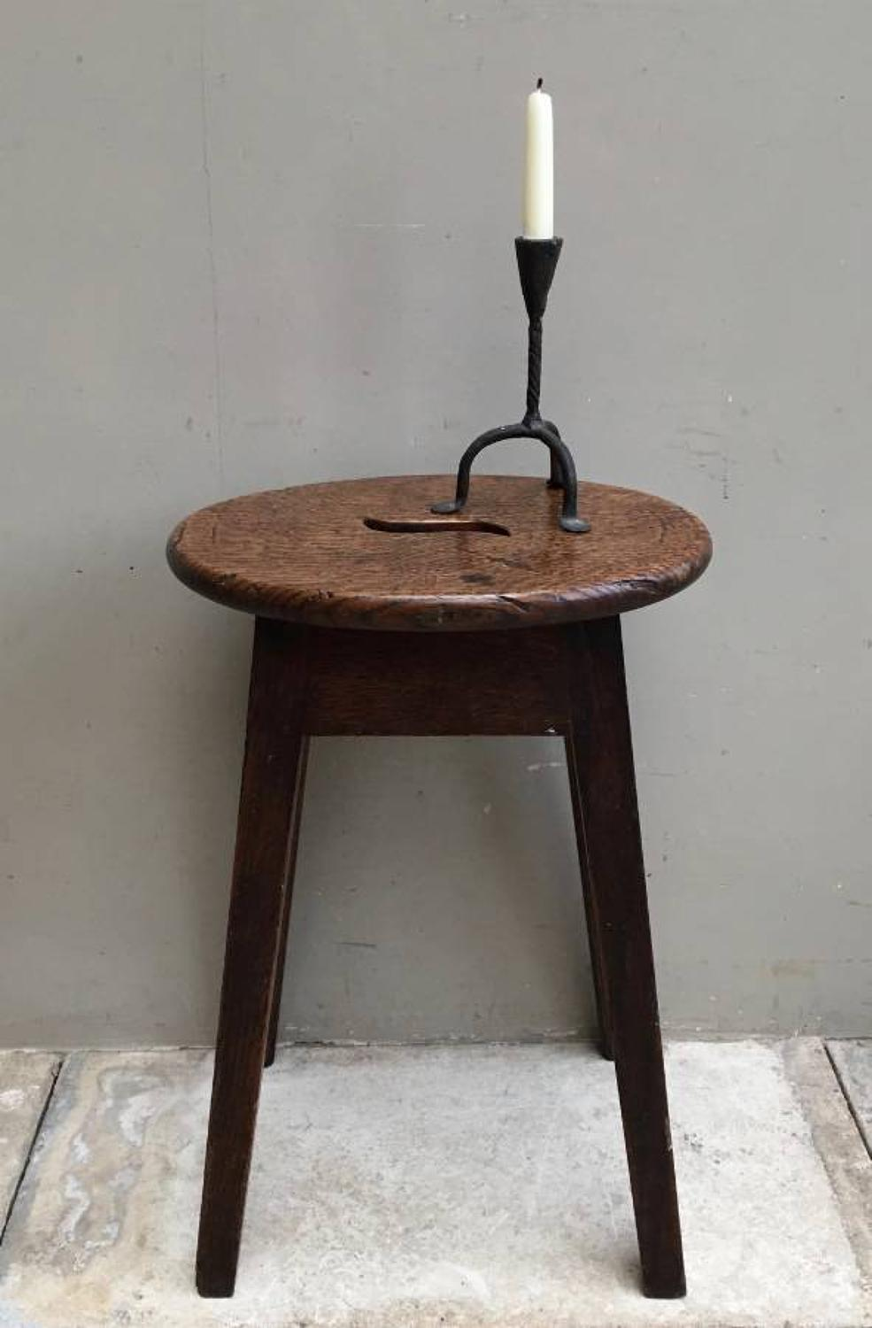 Victorian Elm Stool or Low Side Table