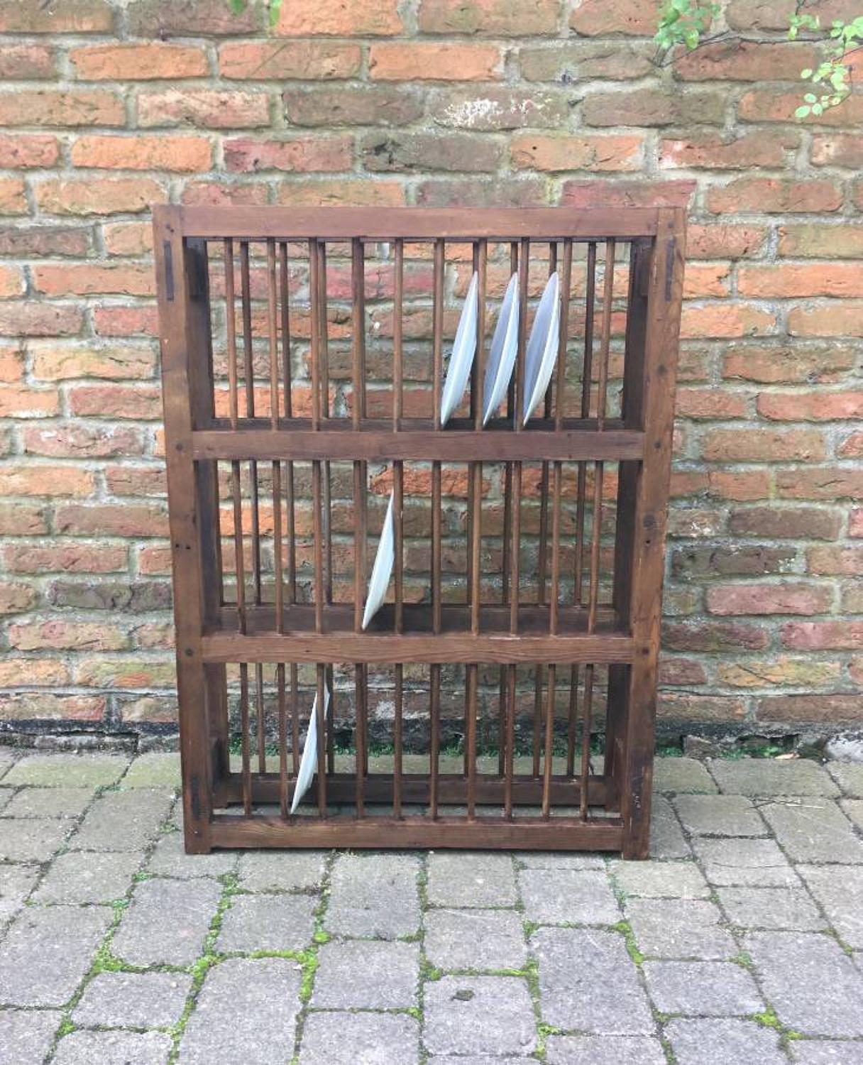 ... Large Early Victorian Pine Three Tier Plate Rack - picture 2 ... & Large Early Victorian Pine Three Tier Plate Rack in Furniture ...