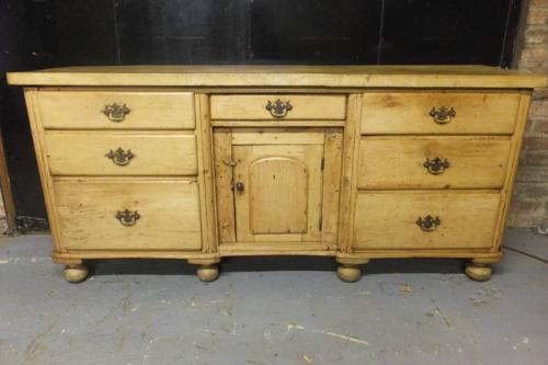 Victorian Pine Dresser Base with Thick Sycamore Top