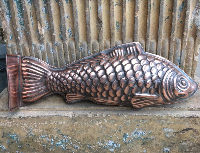 Victorian Large Copper Fish Mould