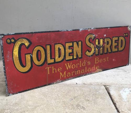 Early 20th Century Tin Advertising Sign - Golden Shred