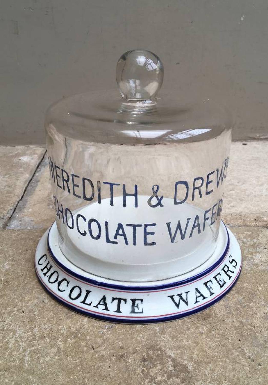 Rare Edwardian Shops Display Dome - Meredith & Drew Chocolate Wafers