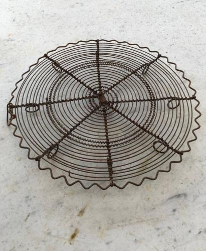 Rare Victorian Ornate Wire Work Cake Cooling Rack
