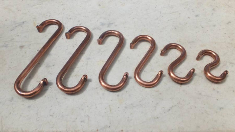 Superb Set of Victorian Copper Butchers Hooks