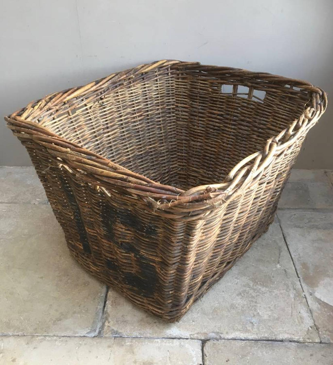 Early 20th Century Mill Basket No.15 - Perfect for Logs