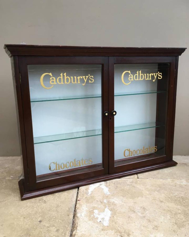 Edwardian Cadburys Chocolate Advertising Wall Cupboard