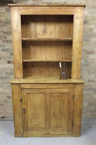 Early Victorian Country Pine Dresser - Rare One Piece