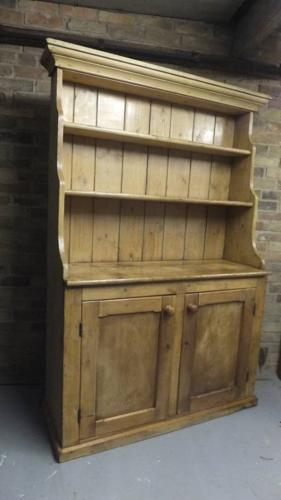 Victorian One Piece Pine Dresser - Great Patina