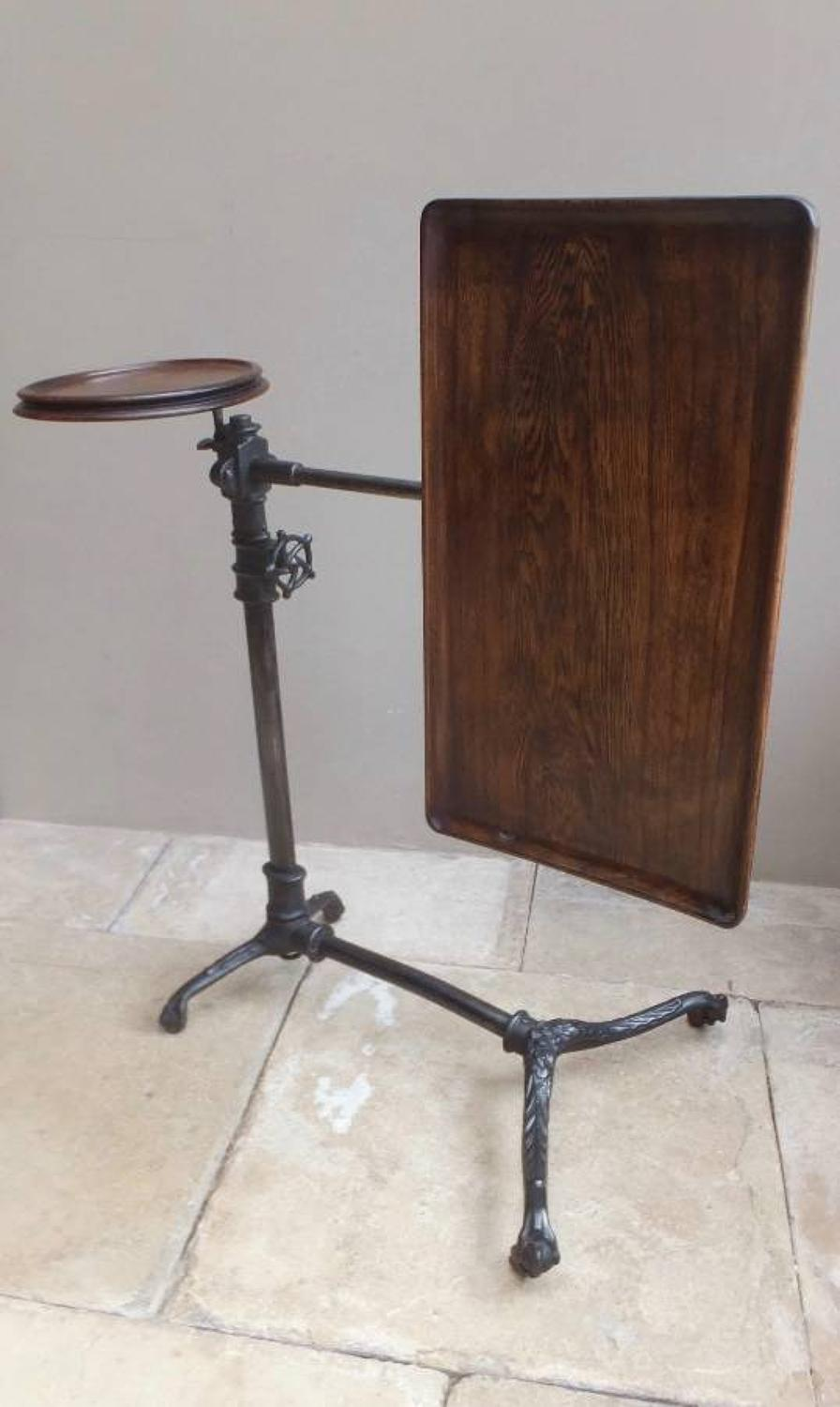 Late Victorian Cast Iron Metamorphic Tray Top Table