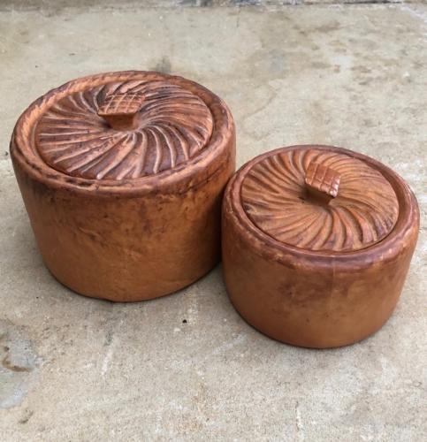 1940s Ceramic Pork Pie Pots - Smaller one Harrods