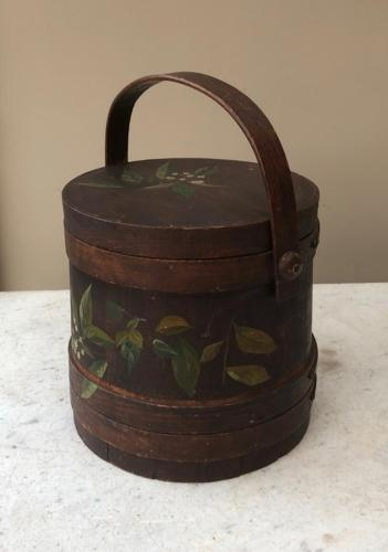 Victorian Pine Flour Barrel - Original Paint