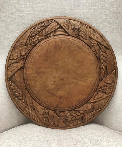 Victorian Large Deeply Carved Bread Board