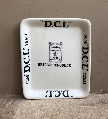 Edwardian Grocers Advertising Plate - DCL Yeast