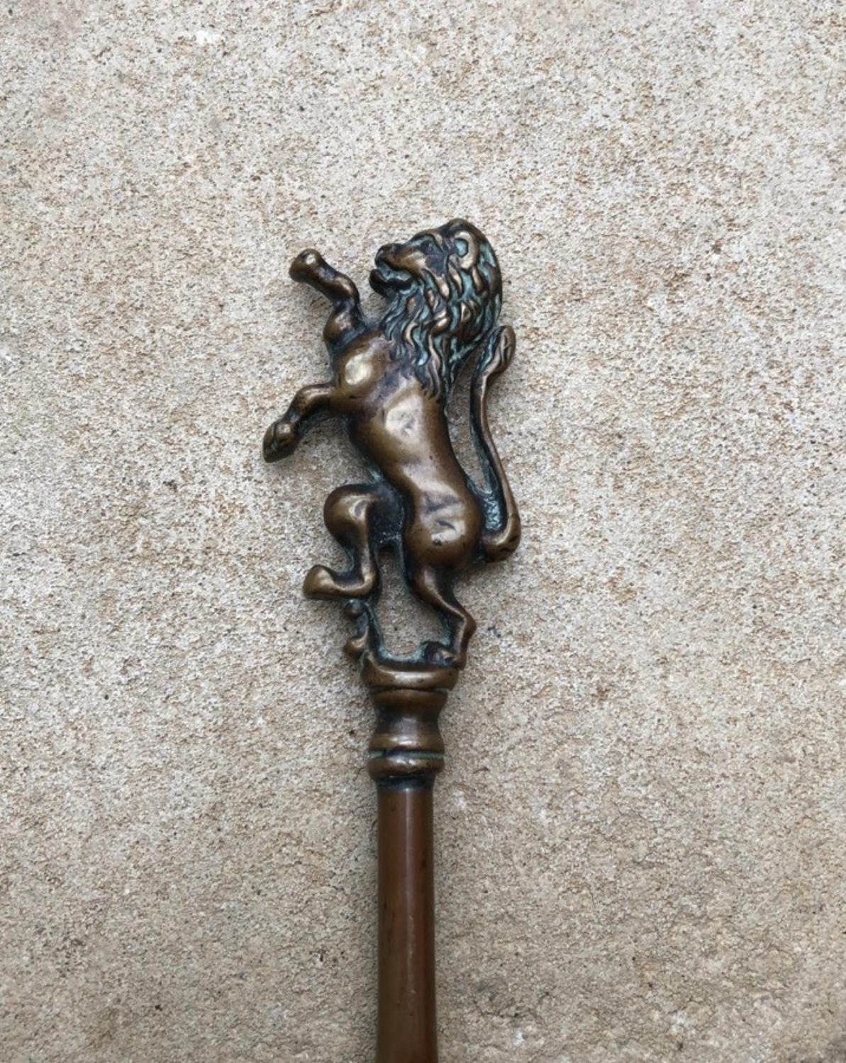 Late Victorian Lion Top Toasting Fork