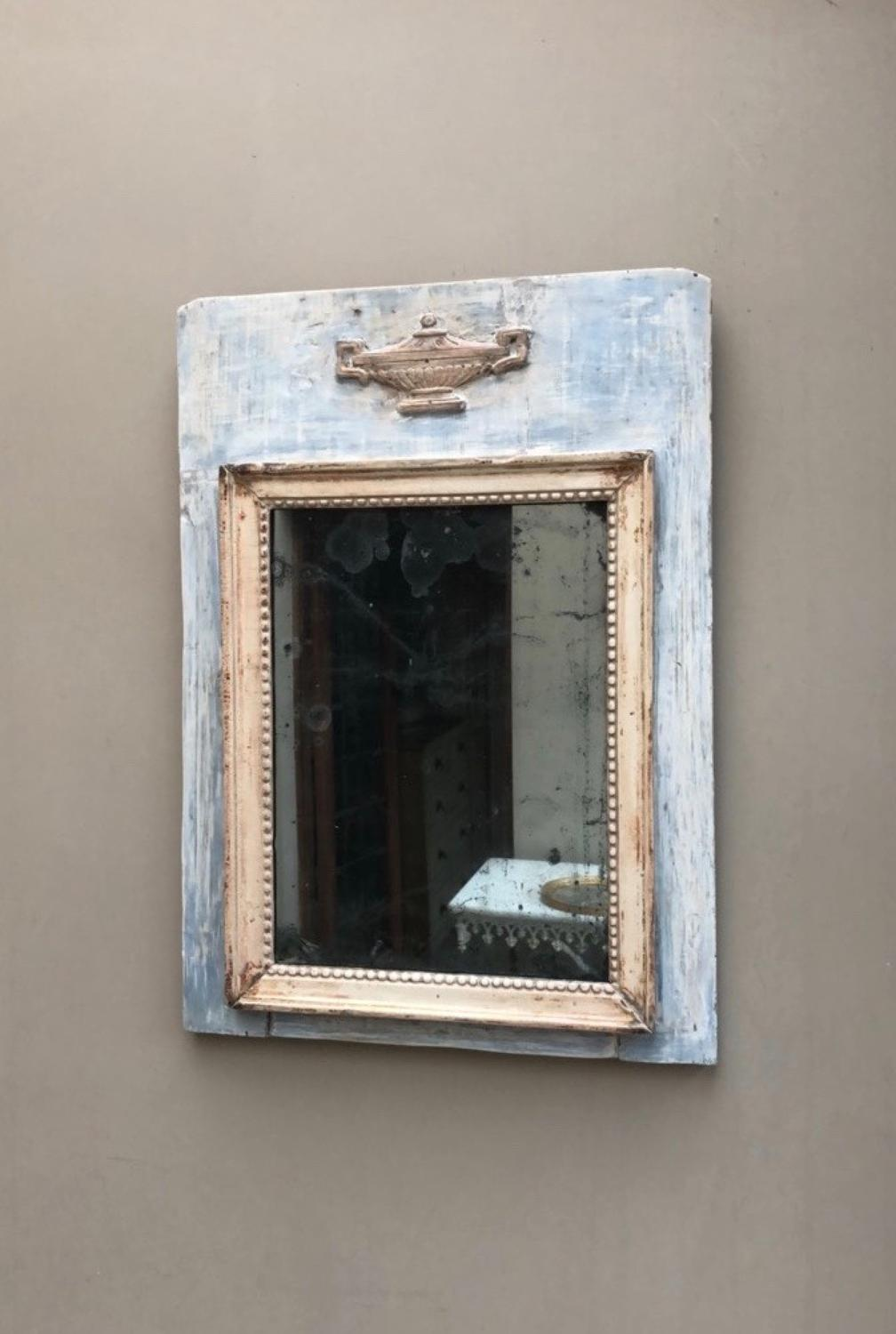 Early Victorian Gustavian Mirror - Original Paint