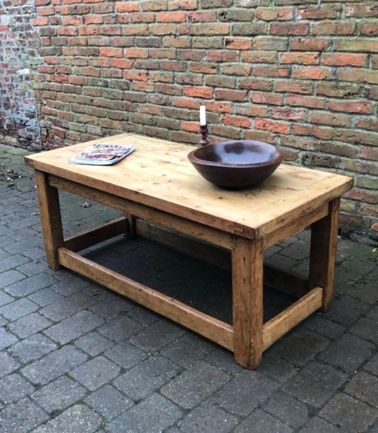 Victorian Pine Base With Reclaimed Top - Coffee Table