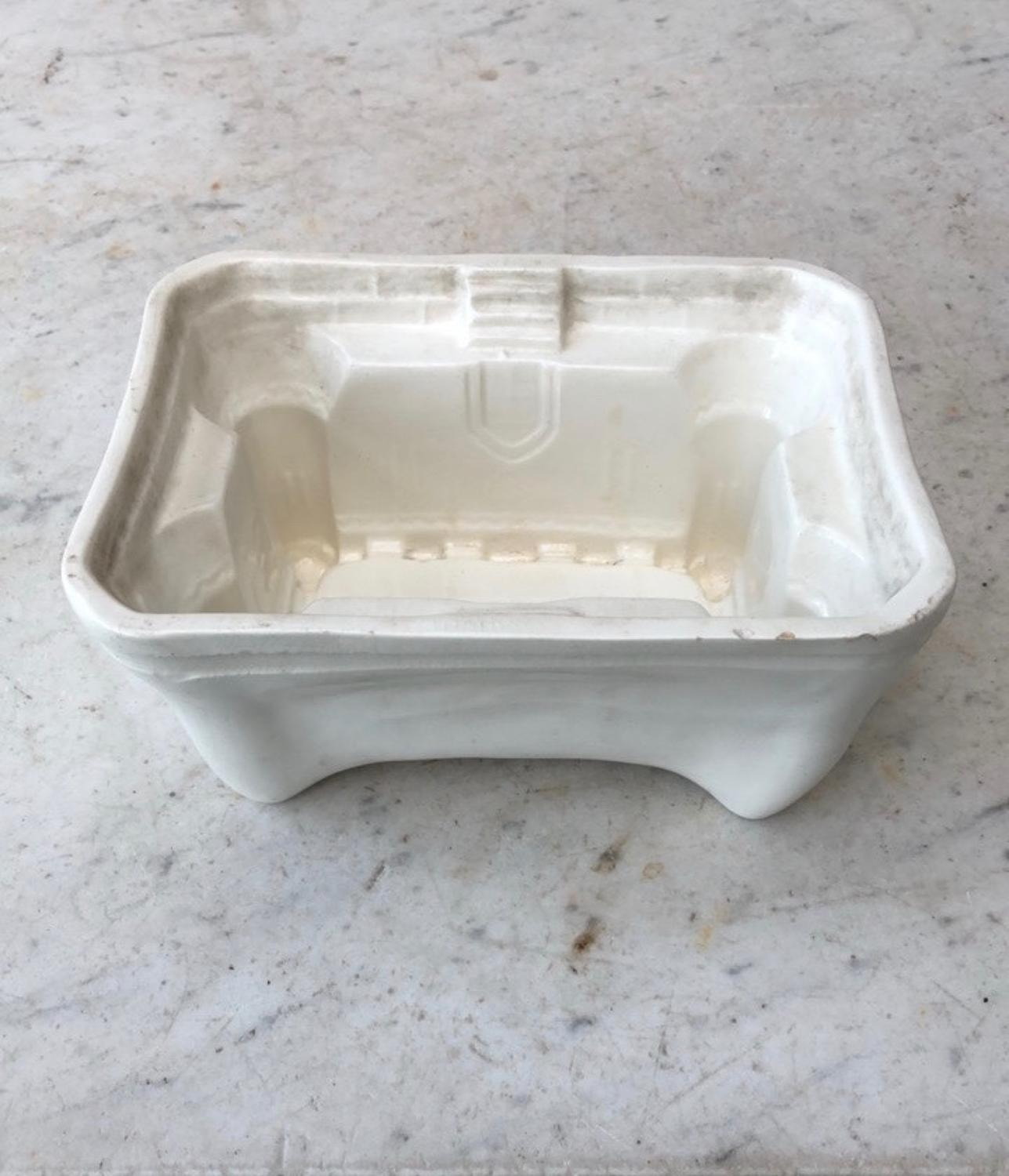 Rare Victorian White Ironstone Jelly or Blancmange Mould - Castle