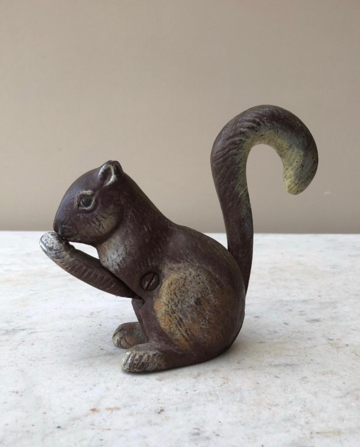 Early 20th Century Cast Iron Squirrel Nut Cracker